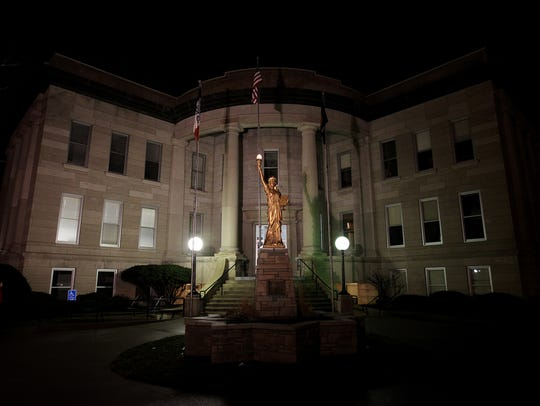 Muscatine City Hall is pictured on Thursday, Jan. 19,