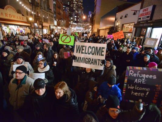 Rally against Trump ban