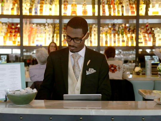 Cortez Ellis, maitre d' at Parc restaurant in Detroit's
