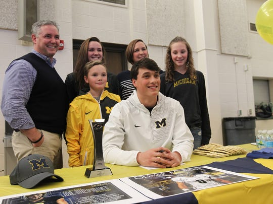 West High senior and Michigan football commit Oliver