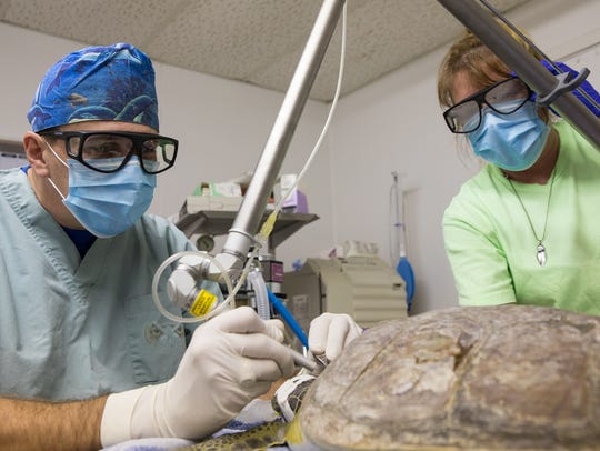 Dr. Tim Tristan uses a co2 surgical laser to remove