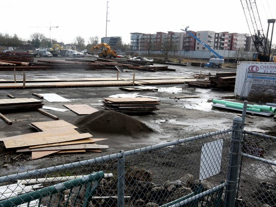 Construction continues at the Park Front at 230 Front St. NE in Salem on Friday, Feb. 17, 2017.