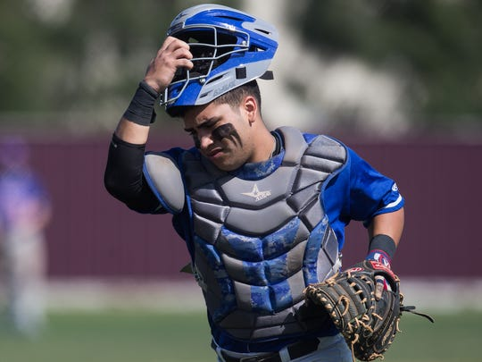 Gregory-Portland catcher Michael Solis is the lone returning for the Wildcats this season in coach Lance Standley's first season.