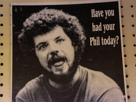 The photo of Phil Pearce taken by a friend and printed on a T-shirt years ago, became a cult sensation in the Upper Peninsula.