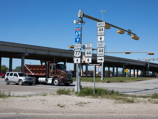 The interception of Texas 44 and Highway 77 in Robstown on Tuesday, Feb. 21, 2017.