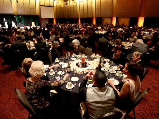 "Hundreds attend the 18th annual Clay Ball at the Salem Convention Center on Saturday, Feb. 25, 2017. The theme for this year's auction and dinner supporting the Salem Art Association was ""Masterpieces"". Guests were encouraged to dress as their favorite artist or work of art."