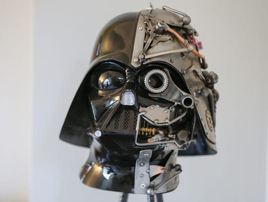 A steampunk Darth Vader piece by artist Adam Homan