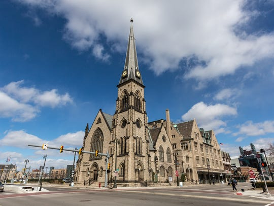 Central United Methodist Church in downtown Detroit