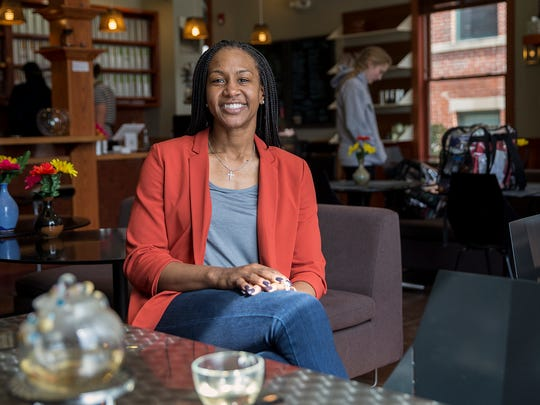 Tamika Catchings poses for a portrait inside Tea's