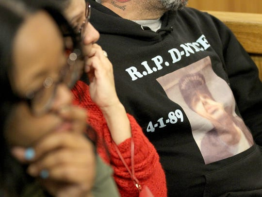 A shirt worn in memory of Daniel Graves is worn in