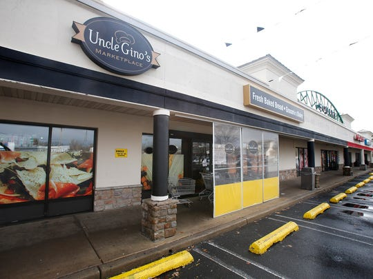 Exterior of the Uncle Gino's store is shown Tuesday morning, April 4, 2017.  The store on Brick Boulevard in Brick closed suddenly Sunday.