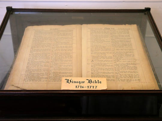 """A 300-year-old """"Vinegar"""" Bible, the rarest and most"""