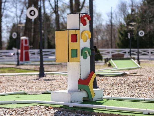 The Tom Thumb miniature golf course at Forest Park