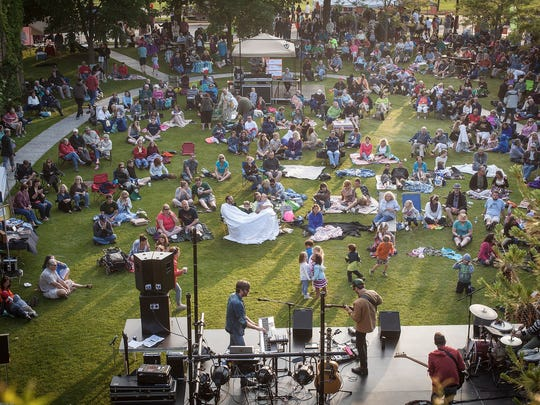 The free Levitt AMP Sheboygan Music Series brings Sheboyganites out in droves.