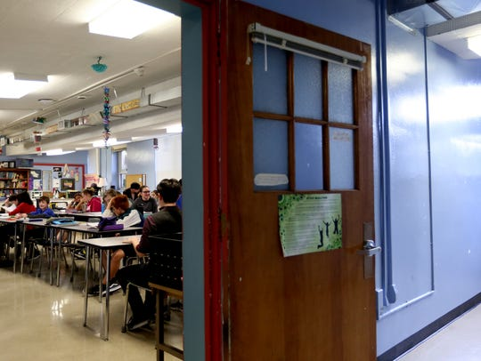 A humanities classroom at Howard Street Charter School