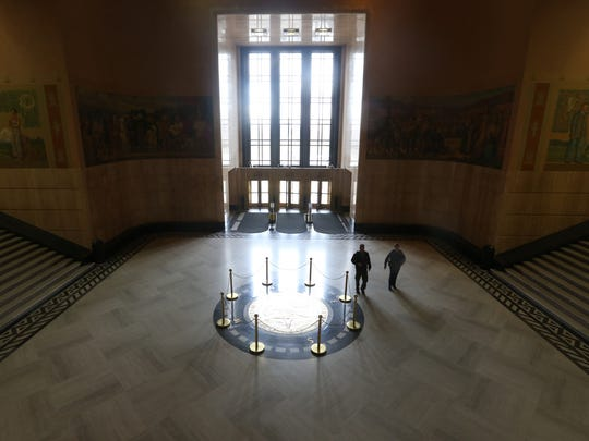 The rotunda at the Oregon State Capitol in Salem.