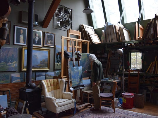 John Phillip Osborne in his studio.