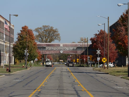 Part of the Packard Plant in Detroit on Thursday, Oct.