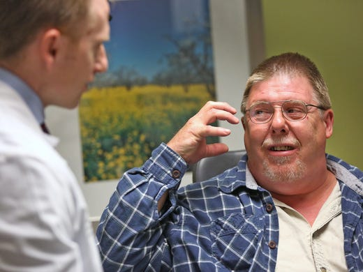 Brain fluid was leaking from this man's ear