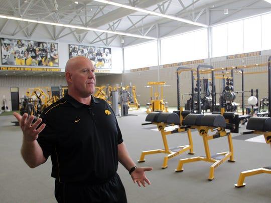 Iowa strength and conditioning coach Chris Doyle gives