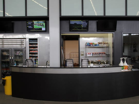 A refueling station is seen in the  inside Iowa's Football