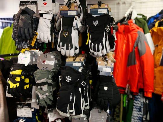 Winter gear is shown inside The Sports Spot in Shrewsbury