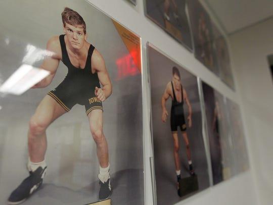 Iowa head coach Tom Brands' collegiate portrait is
