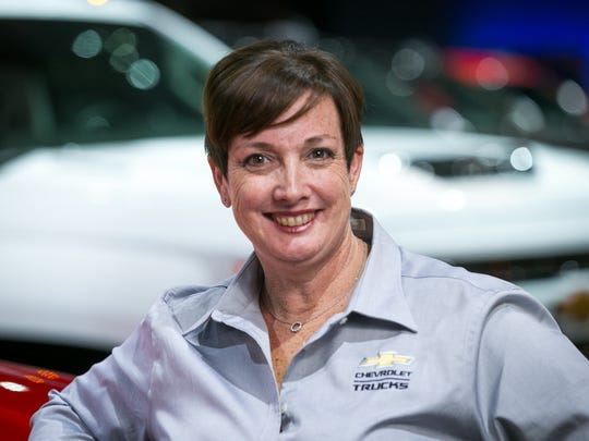 Chevrolet Colorado Chief Vehicle Engineer Anita Burke at the unveiling of the Colorado ZR2 mid-size pickup in November 2016 in Los Angeles, CA.