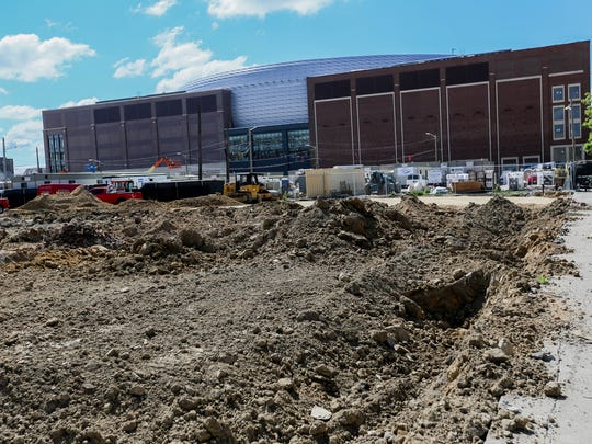 Little Caesars Arena in Detroit is photographed on Tuesday, June 6, 2017.
