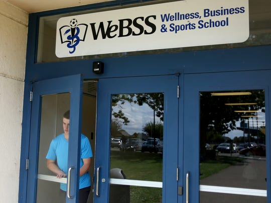 Senior Andy Ellingson at the Wellness, Business and Sports School at Woodburn High School in Woodburn, Ore., on Wednesday, May 31, 2017.