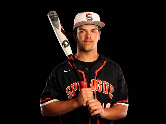 Sprague senior Justin Culpepper is nominated for Baseball Player of the Year in the Statesman Journal Sports Awards. Photographed at the Statesman Journal in downtown Salem on Tuesday, May 23, 2017.