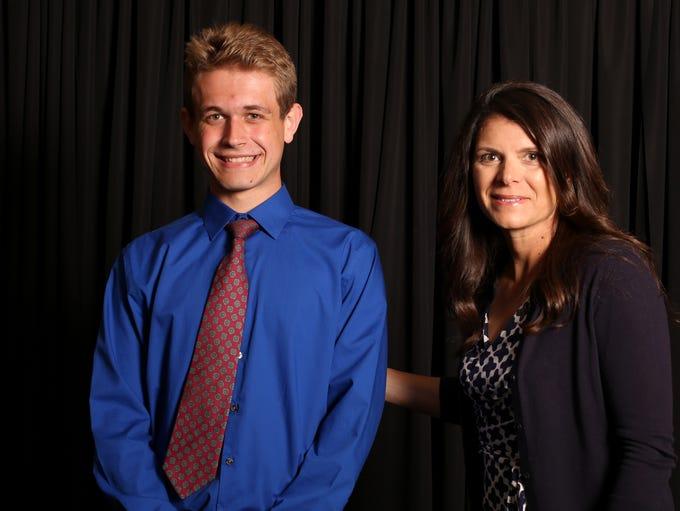 Caleb Elliott with soccer star Mia Hamm, special guest