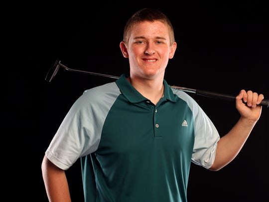 Regis junior Kyle Humphreys is nominated for the Boy's Golfer of the Year in the Statesman Journal Sports Awards. Photographed at the Statesman Journal in downtown Salem on Tuesday, May 2, 2017.