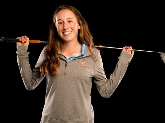 South Salem senior Ellie Slama is nominated for Girl's Golfer of the Year in the Statesman Journal Sports Awards. Photographed at the Statesman Journal in downtown Salem on Friday, May 5, 2017.