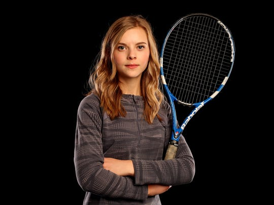 McNary junior Hannah Childress is nominated for Girl's Tennis Player of the Year in the Statesman Journal Sports Awards. Photographed at the Statesman Journal in downtown Salem on Tuesday, May 9, 2017.
