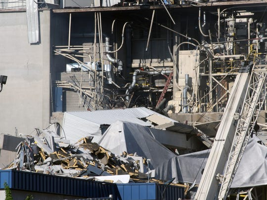 An explosion ripped through a corn mill plant at the