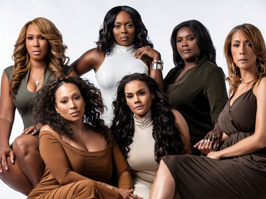"""The cast of BET Centric's reality show, """"From the Bottom Up."""" They are:Chanita Foster (top, left), Stacii Jae Johnson, Kimberly Smedley, Chrystale Wilson (bottom, left), Sara Stokes, and Christine Beatty."""