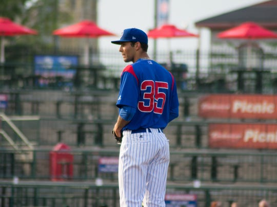 Tyson Miller, a former Shadow Hills High School standout, pitches for the South Bend Cubs, a Single A affiliate of the Chicago Cubs.