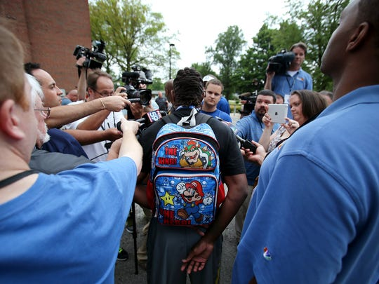 Indianapolis Colts wide receiver T.Y. Hilton wears