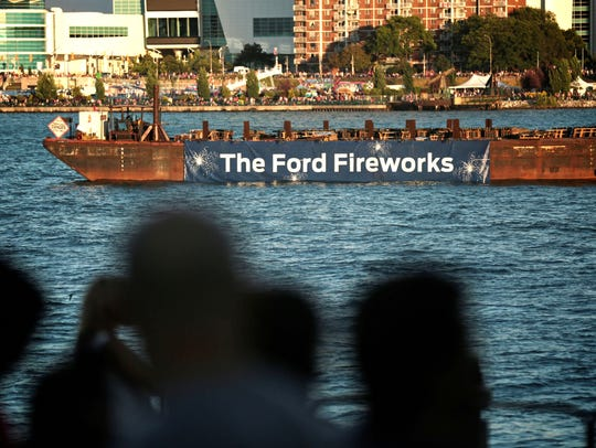 The Ford Fireworks festival at Hart Plaza in downtown