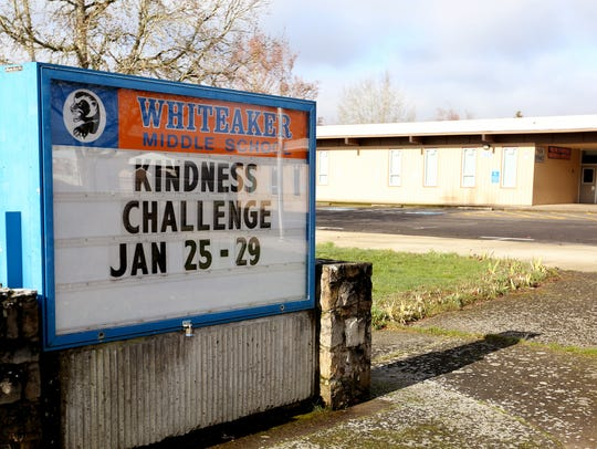 Whiteaker Middle School in Keizer. Photographed on