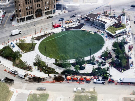 Beacon Park is DTE's newest contribution to downtown