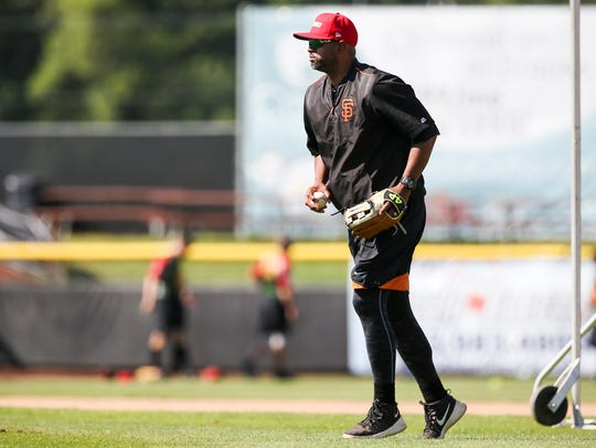 Volcanoes manager Jolbert Cabrera on Thursday, July
