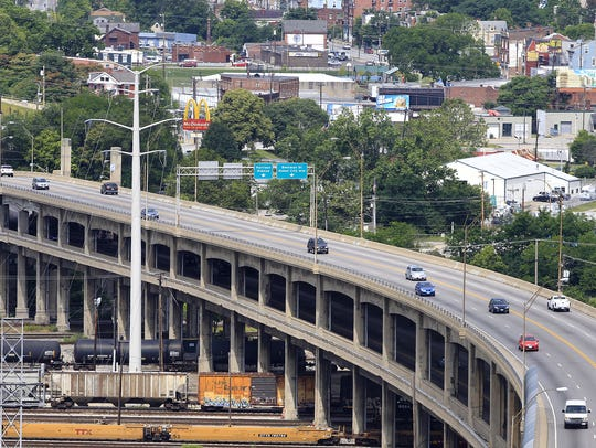 The city will close lower level of Western Hills Viaduct for most of Saturday