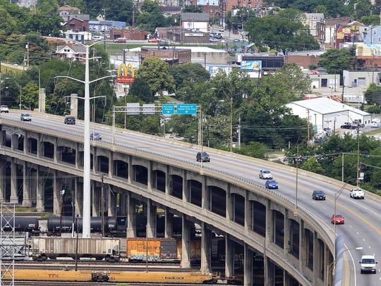 The Western Hills Viaduct in Cincinnati