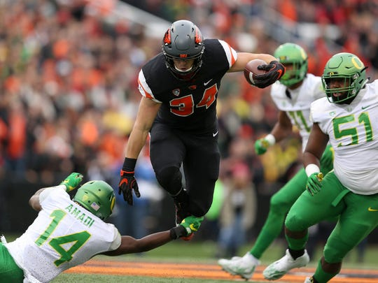 Oregon State's Ryan Nall ran for 951 yards and 16 touchdowns last season,  including 155 yards and four scores in the Civil War victory over Oregon.