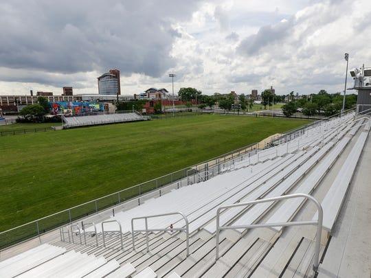 Cass Technical High School football field on Saturday, July 21, 2017 in Detroit.