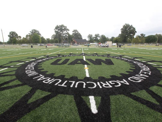 The UAW football field at Chandler Park.