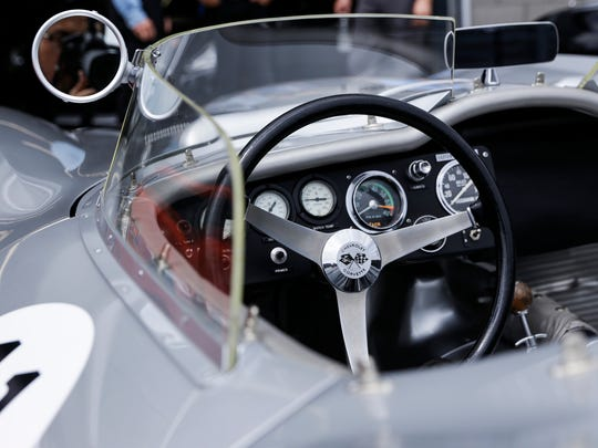 The interior of a 1959 Chevrolet Stingray Racer during the Concours d'Elegance of America at M1 Concourse, Friday, July 28, 2017 in Pontiac.