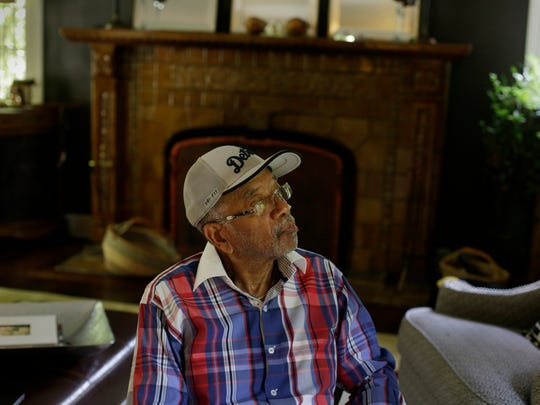 Activist Lonnie Peek talks about living in Detroit in 1967 at home in Detroit on July 14, 2017.